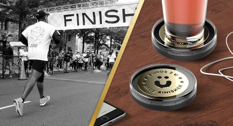 Race Finisher Medal with a Beer