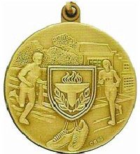 Athletes Sports Medals Run