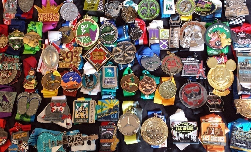 Race Medals to Display