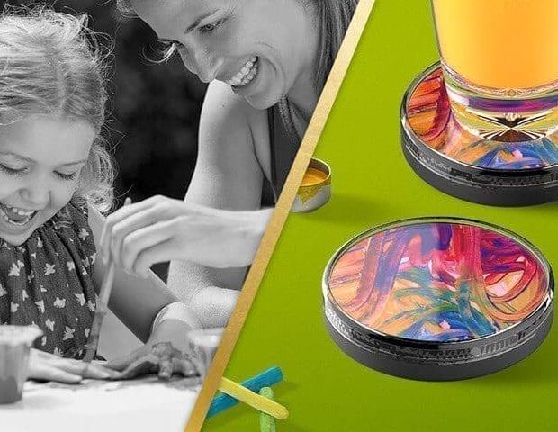 Kids Artwork Display with Juice