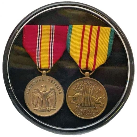 Military Commendation Display Case
