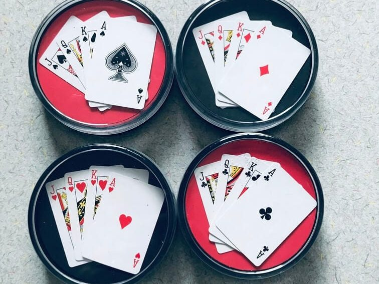 Playing Card Display Case Coasters