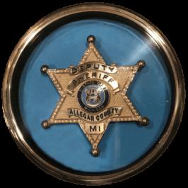 Sheriff Badge in Display Case