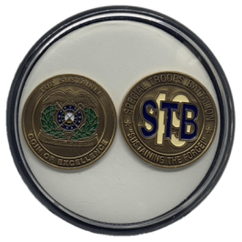 Two Challenge Coin Holder