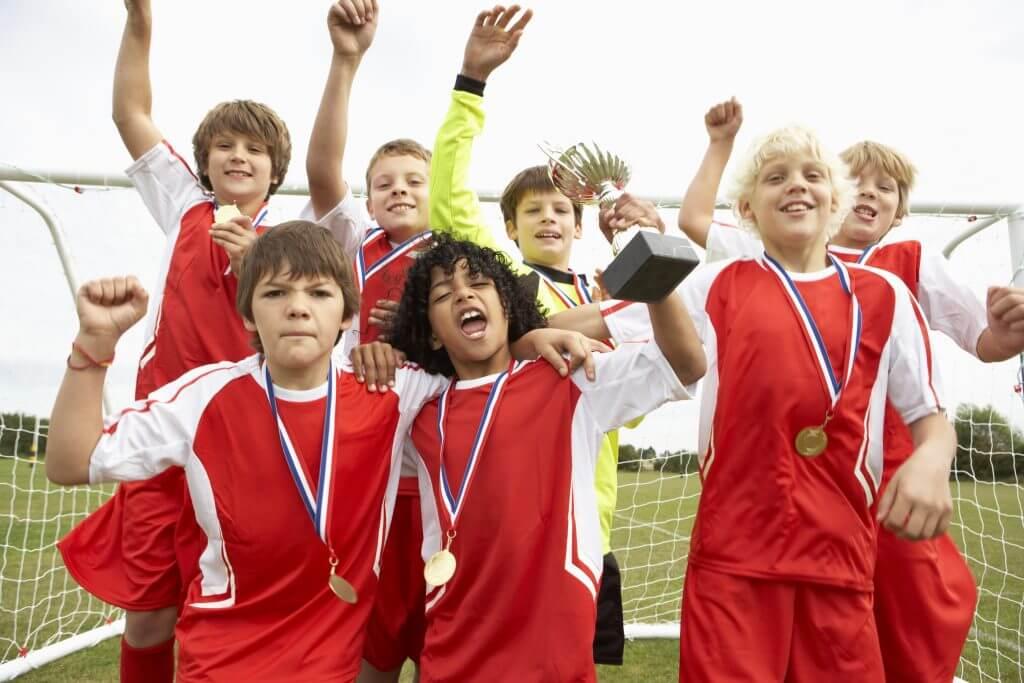 Young Athletes Celebrating
