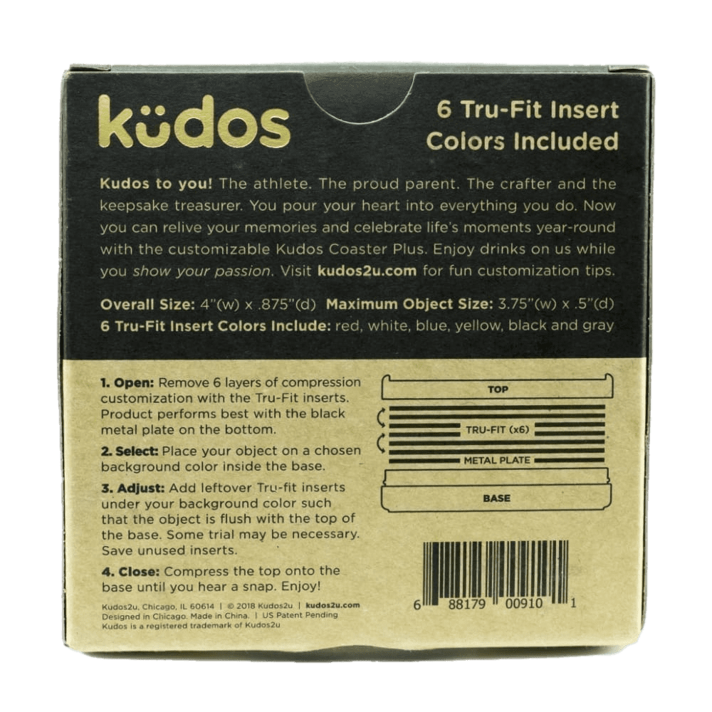 Kudos Coaster Plus challenge coin holder