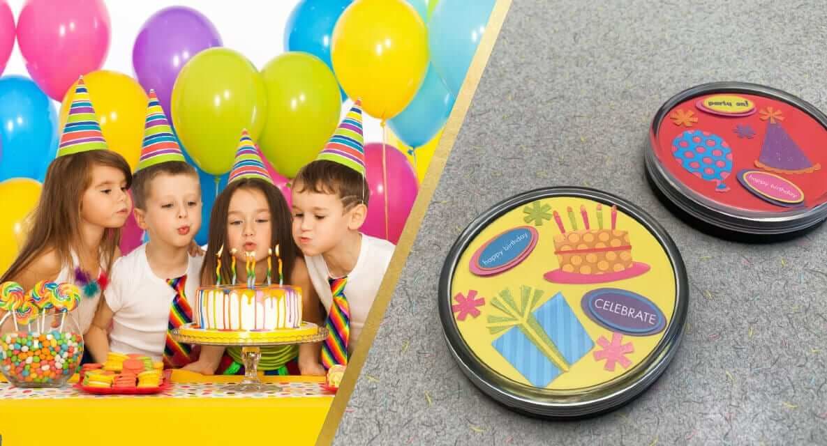 Birthday Party DIY Coaster