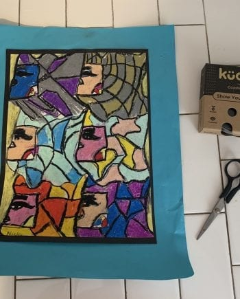child art display case