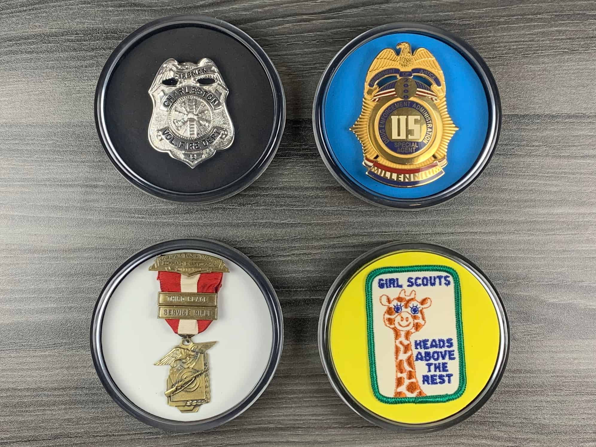 Badge and Patch Coasters