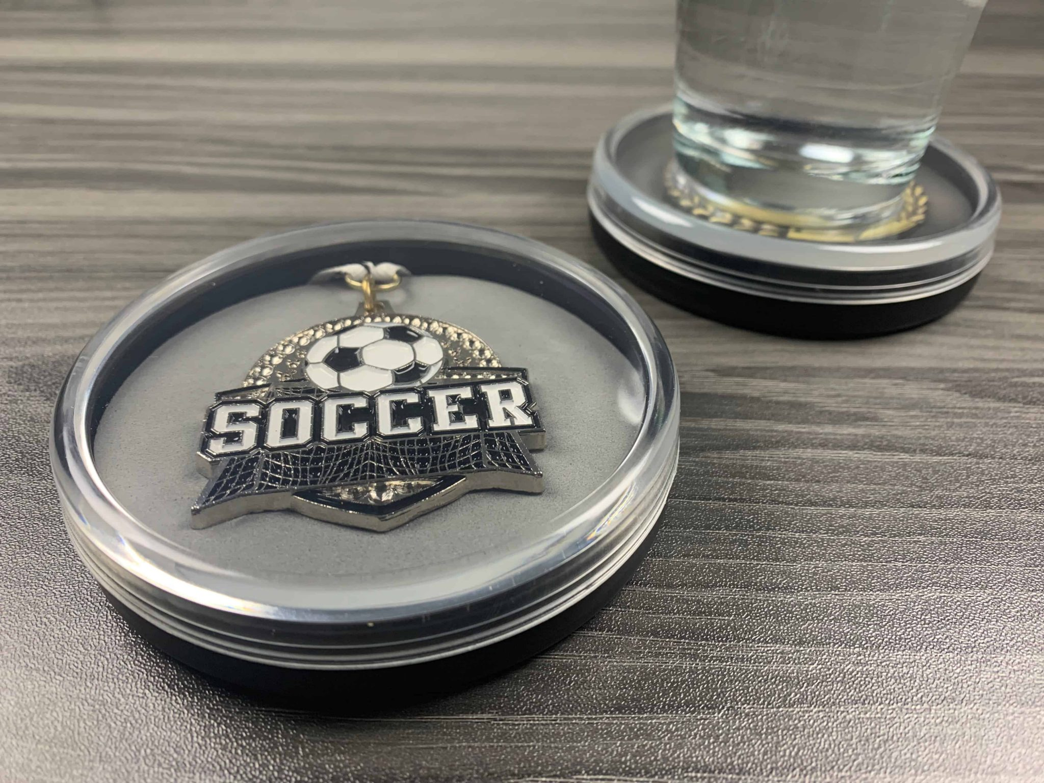 Soccer Medal Display Case Coaster | How to Display Your Soccer Medals